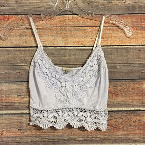 Ecote blue crochet bralette crop top